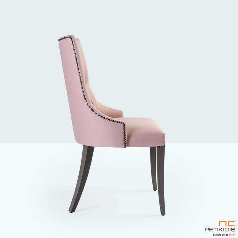 Καρέκλα JASMIN (A45) Κεπιτονέ με Ξύλινα Πόδια από Δρυς