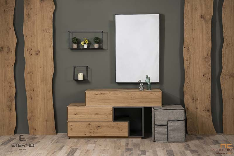 Κρεβατοκάμαρα Box με Τουαλέτα - Ξύλο Δρυς Ρουστίκ