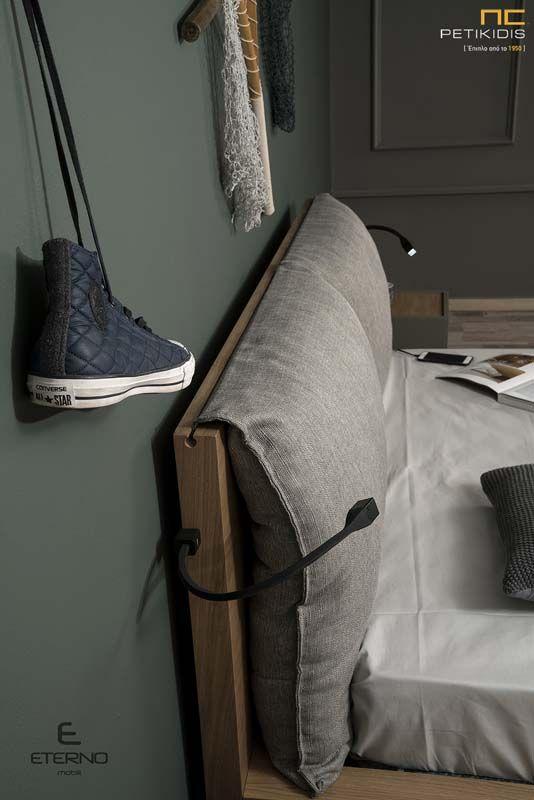 Κρεβατοκάμαρα New Free με Τουαλέτα από Ξύλο Δρυ Λάκα - Υφασμάτινο Κεφαλάρι