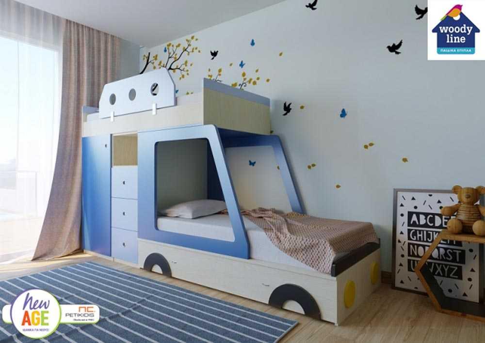 Παιδικό Δωμάτιο Αμάξι Κουκέτα - Woodyline
