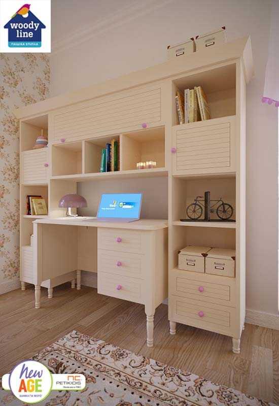 Παιδικό δΔωμάτιο με Κλασικό Γραφείο