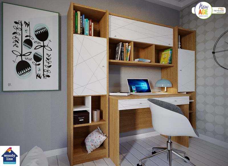 Παιδικό Δωμάτιο Ιστός με Γραφείο & Βιβλιοθήκη