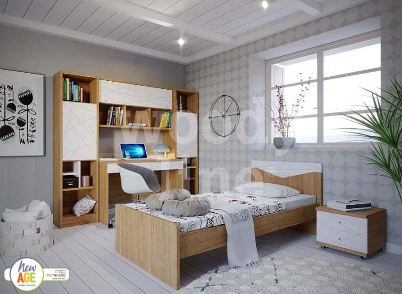 Παιδικό Δωμάτιο Ιστός από Βακελίτη και Λευκή Λάκα - Woodyline