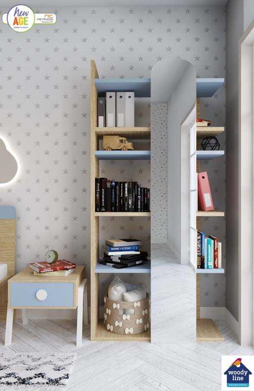 Παιδικό Δωμάτιο Κύθηρα με Βιβλιοθήκη