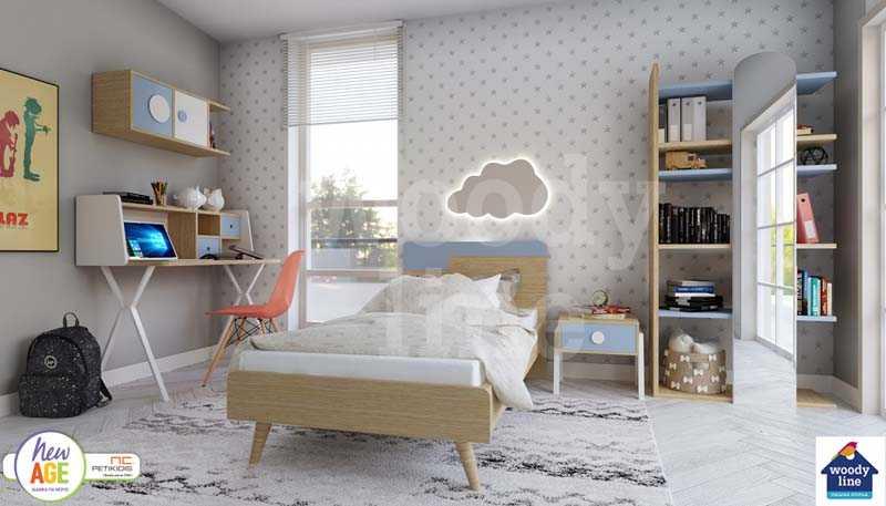 Παιδικό Δωμάτιο Κύθηρα με Κρεβάτι, Γραφείο & Βιβλιοθήκη
