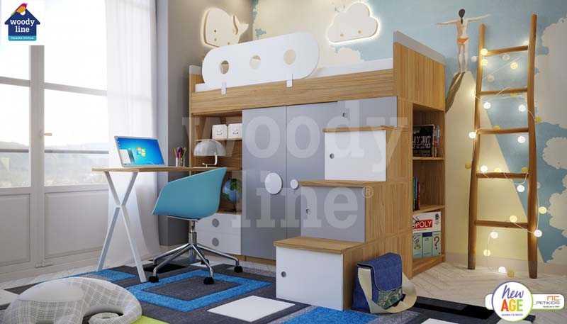 Παιδικό Δωμάτιο Κως με Ντουλάπα & Γραφείο