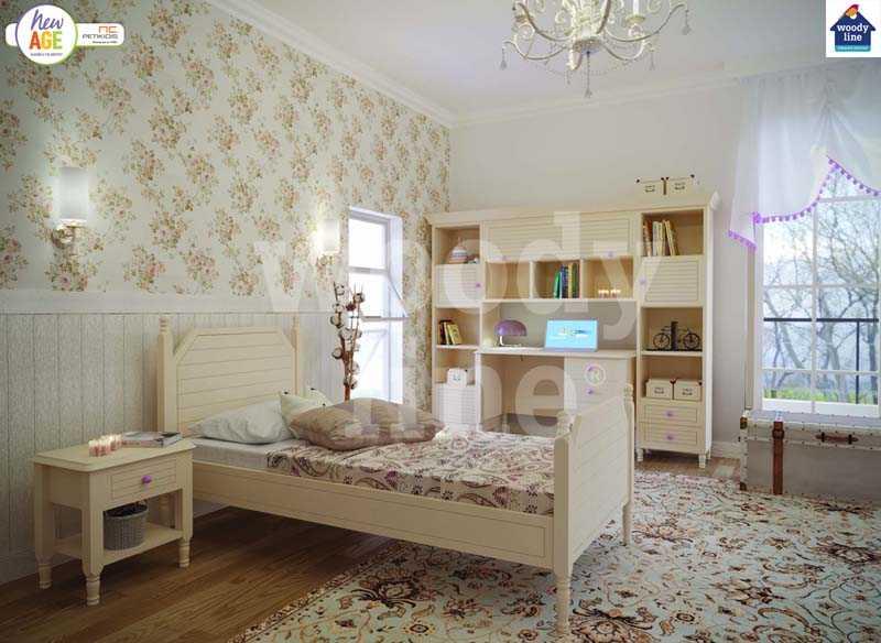 Παιδικό Δωμάτιο με Κλασικό Κρεβάτι & Γραφείο
