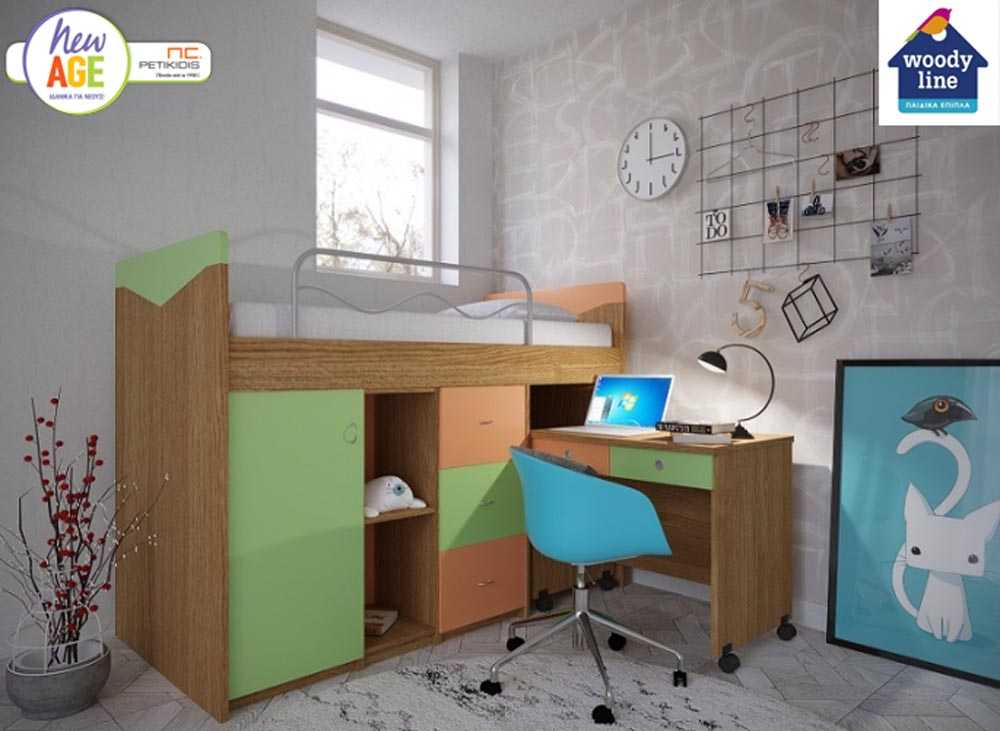 Παιδικό Δωμάτιο με Κουκέτα - Woodyline