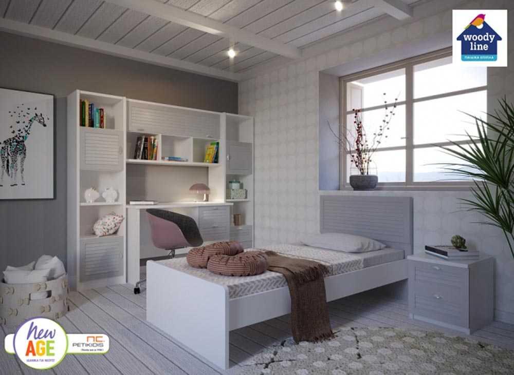 Παιδικό Δωμάτιο Πατζούρι Κρεβάτι - Woodyline