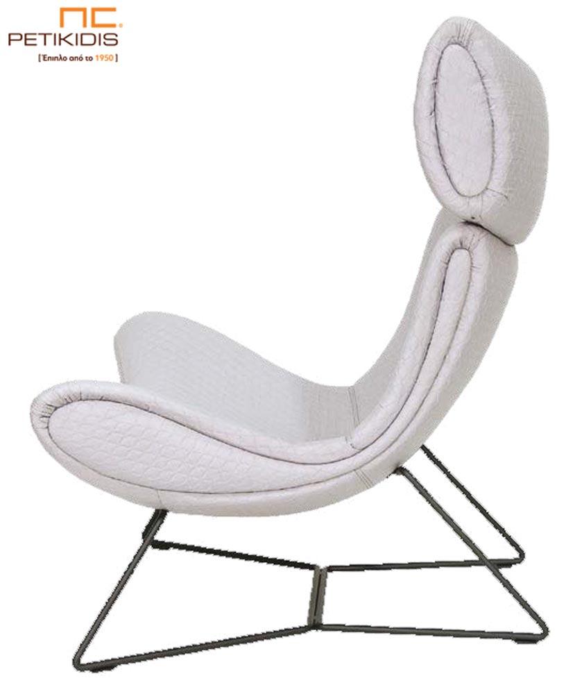 Πολυθρόνα Boss με μεταλλικά πόδια σε άκρως μοντέρνο σχεδιασμό για απόλυτη άνεση σε συνδυασμό με την αισθητική.