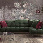 Σαλόνι γωνία Dona με ξύλινη βάση και καπιτονέ μαξιλάρια στην πλάτη και στο κάθισμα.Διαθέτει μηχανισμούς στα μαξιλάρια της πλάτης για μεγαλύτερη ανάπαυση με ύφασμα πράσινο βελούδο αδιάβροχο και αλέκιαστο.