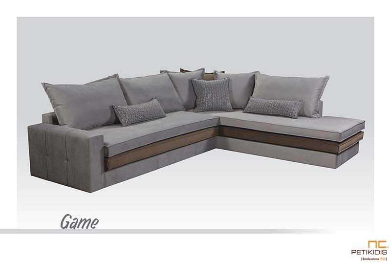 Σαλόνι Γωνία Game με Διπλό Μαξιλάρι Καθίσματος