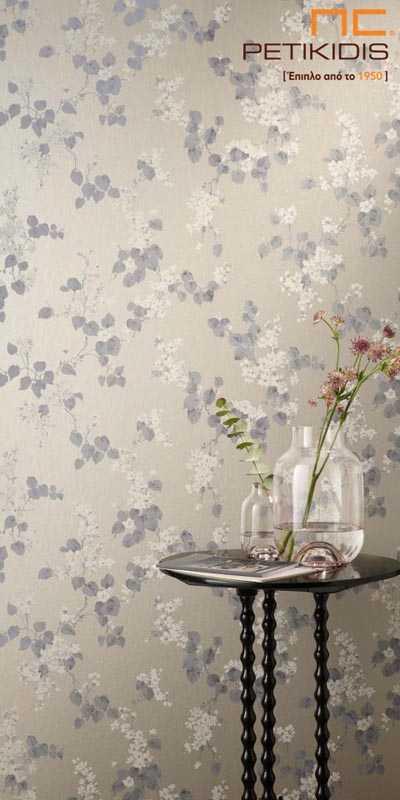 Ταπετσαρία Τοίχου Rasch Emilia με Μπεζ Λουλούδια - 501544