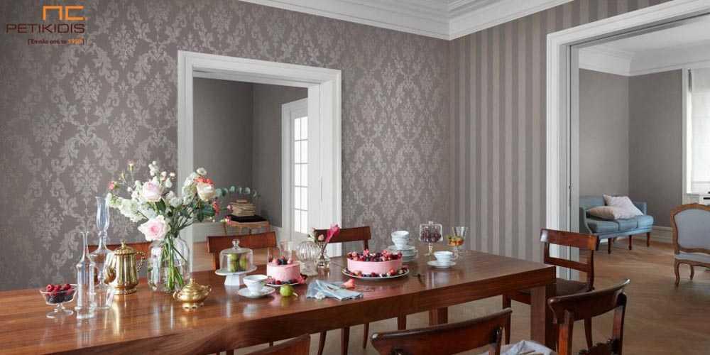 Ταπετσαρία Τοίχου Rasch Emilia με Λουλούδια & Ρίγα - 501773 / 502244