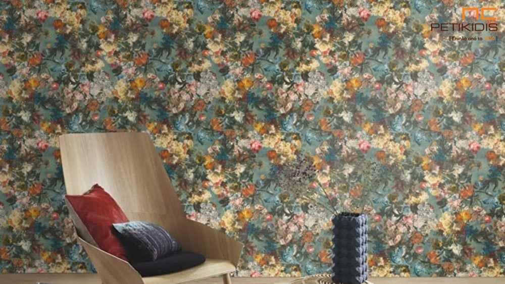 Ταπετσαρία Τοίχου Rasch Passepartout Λουλούδια Floral - 605655