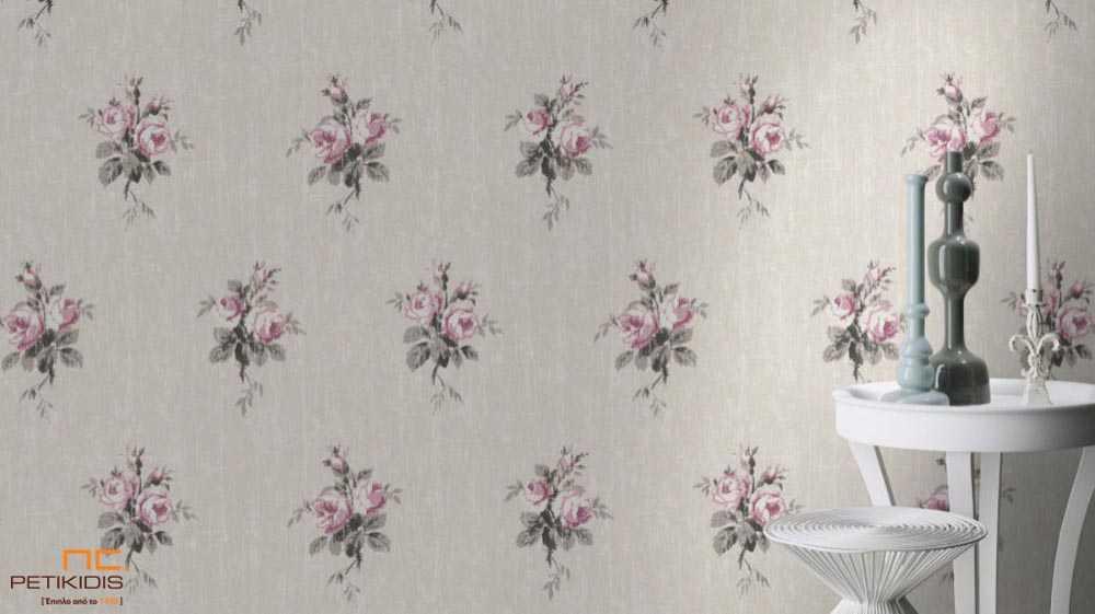 Ταπετσαρία Τοίχου Rasch Souvenir Λουλούδια Floral - 516142