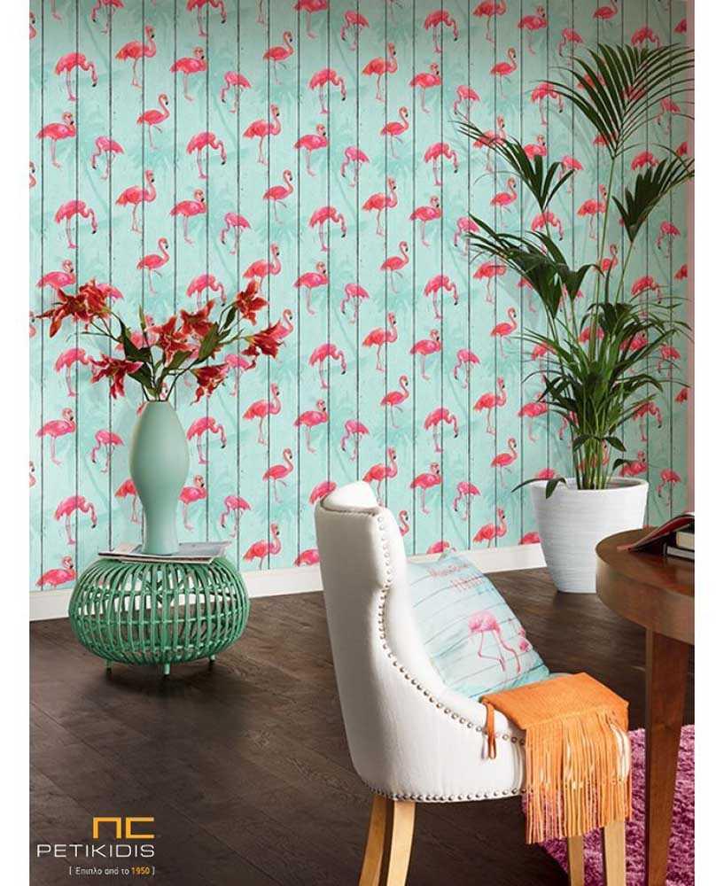 Ταπετσαρία Wallpaper Φλαμίνγκο