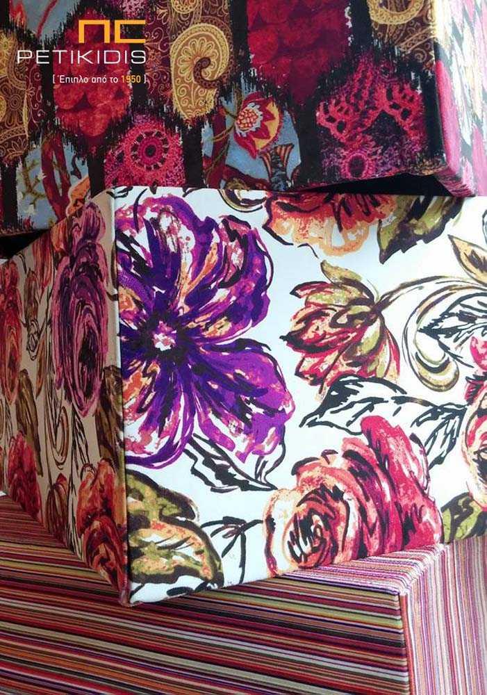 Ύφασμα Επίπλωσης Floral Αλέκιαστο Αδιάβροχο