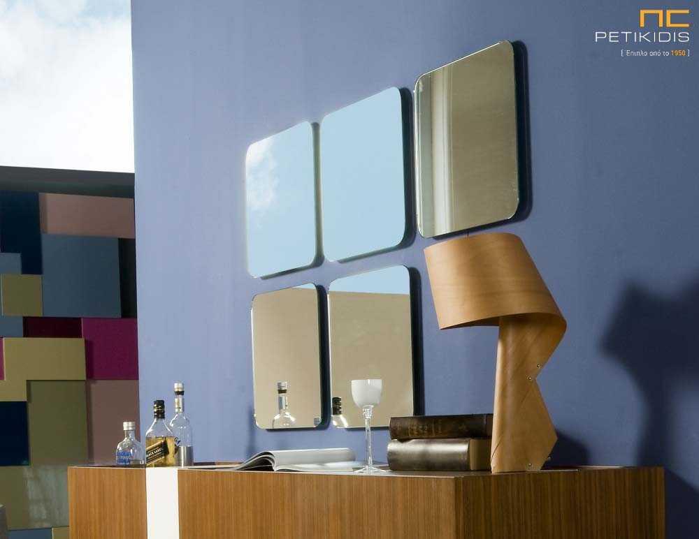 Τετράγωνοι διακοσμητικοί καθρέπτες.