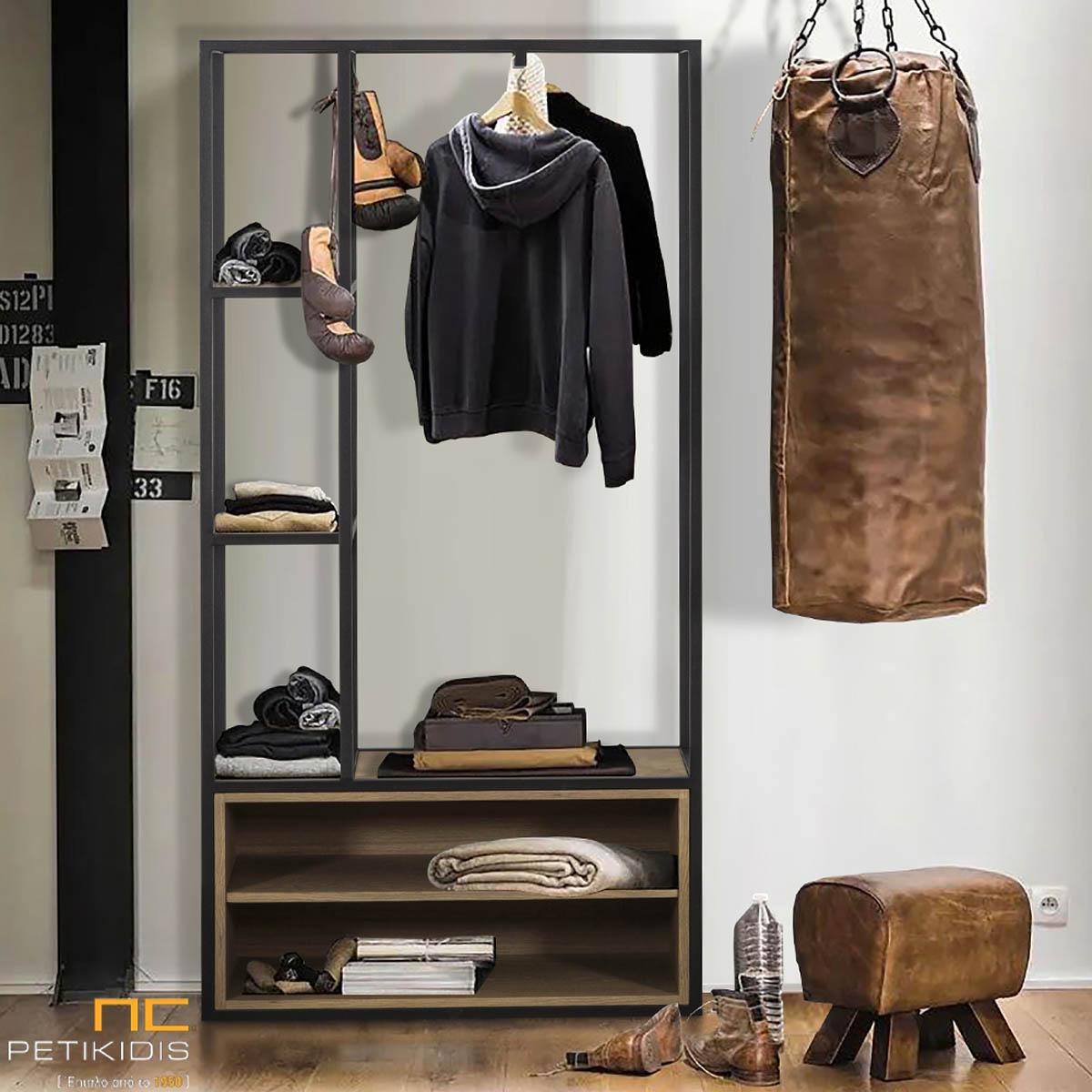 Κρεμάστρα Rory από ξύλο δρυς και μεταλλικό σκελετό.Ιδανικό για υπνοδωμάτια, εισόδους και χώρους υποδοχής.