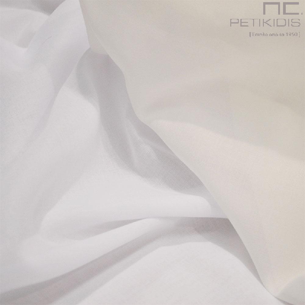 Κουρτίνα βουάλ σε λευκό. Ύφασμα του οίκου Pepa Pastor (κωδ. ΚΡΤ262)