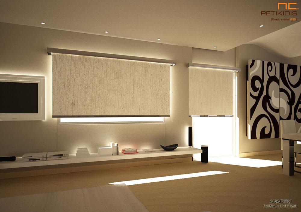 Ρόλερ σε εκρού μπεζ χρώμα με μεταλλική μετόπη για οικιακή ή επαγγελματική χρήση (κωδ. ΚΡΤ270)