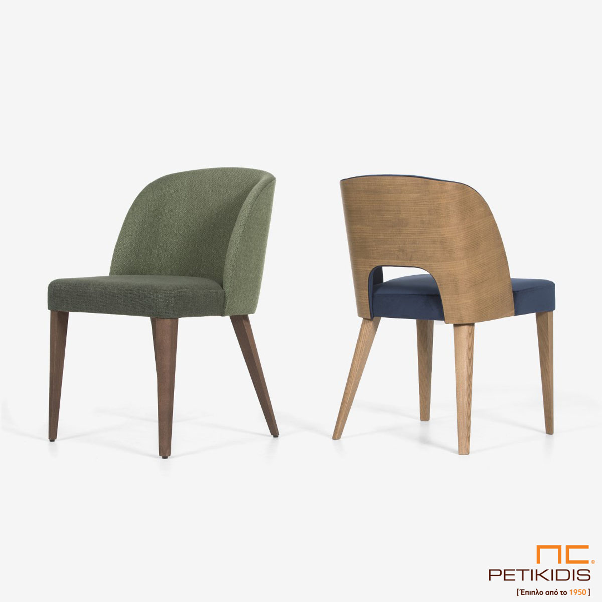 Καρέκλα Marien Α93 και Marien A93 Plus με υφασμάτινη πλάτη και ξύλινη.
