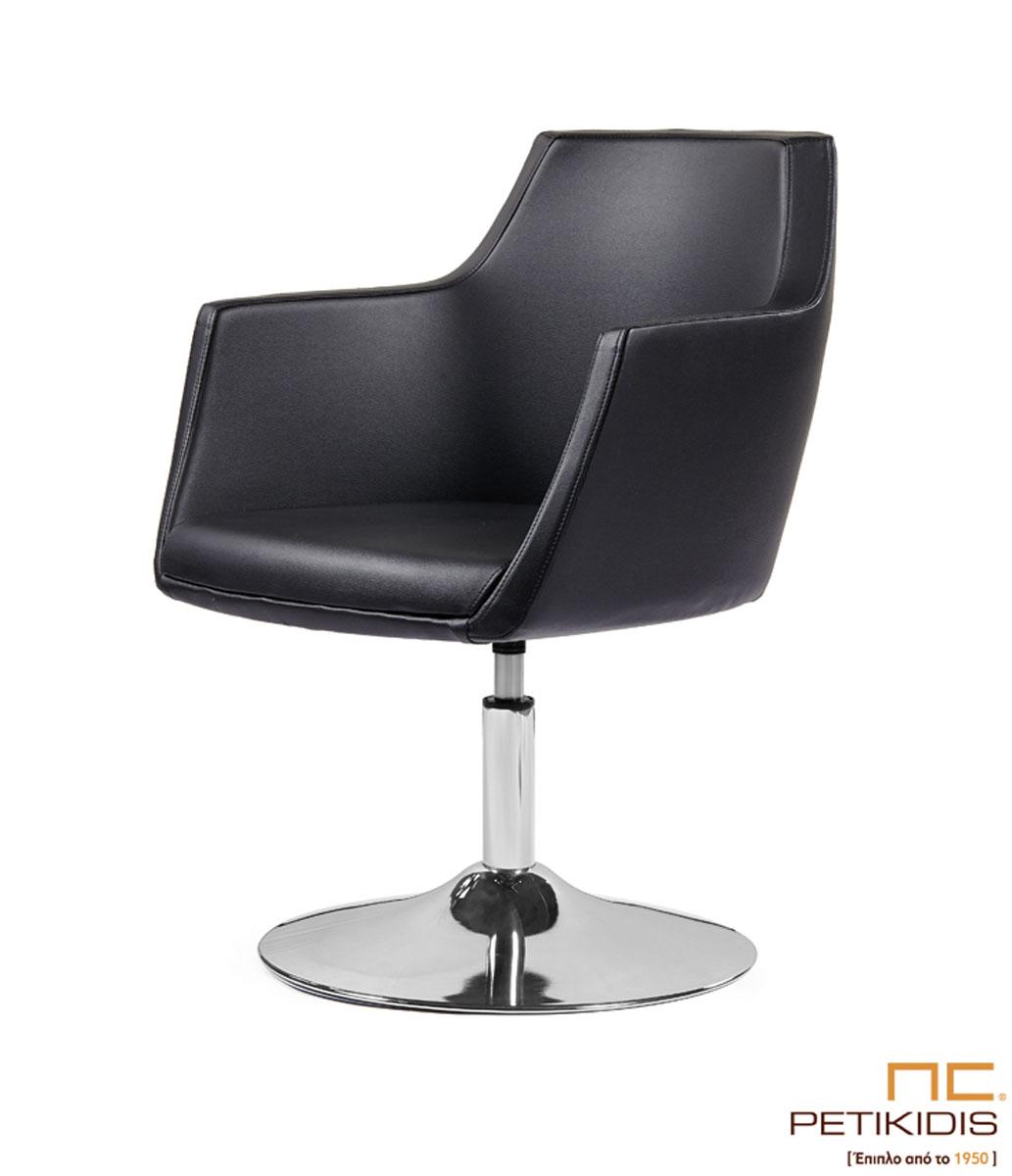 Καρεκλοπολυθρόνα Νο149-28 με μεταλλική βάση και αμορτισέρ για εργασιακό χώρο. Ιδιαίτερη άνεση και σχεδιασμός.